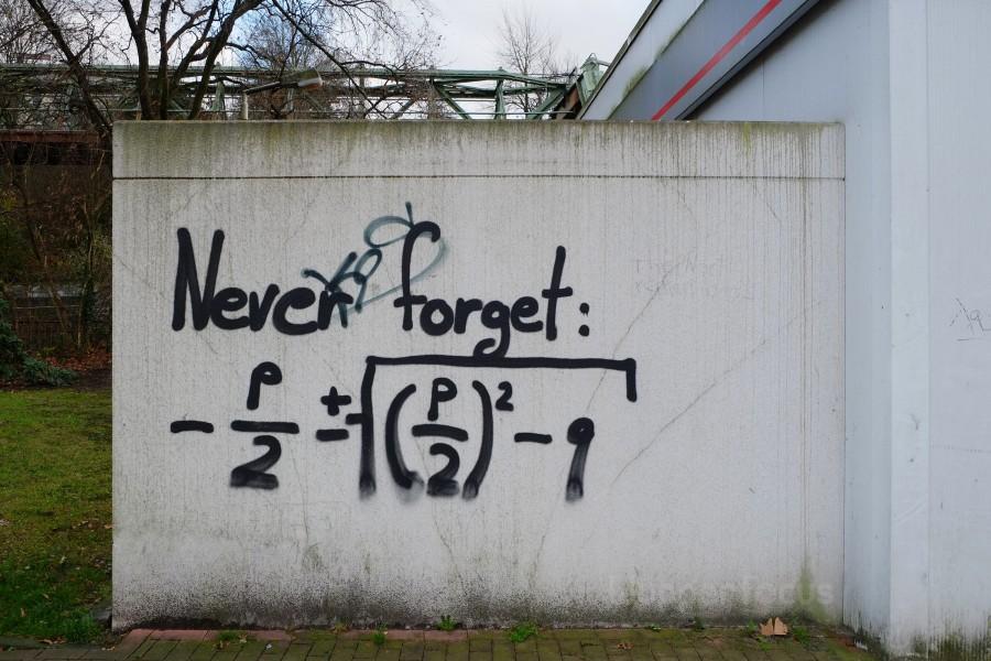 Formel-Graffiti in Wuppertal