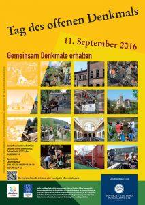 Plakat zum Tag des offenen Denkmals 2015
