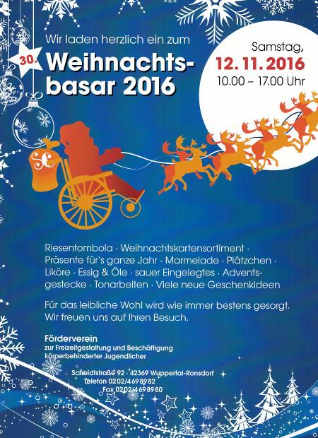 Förderverein-Weihnachtsbasar 2016