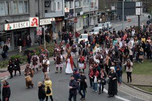 Prozession auf dem Hofkamp-Kreisel