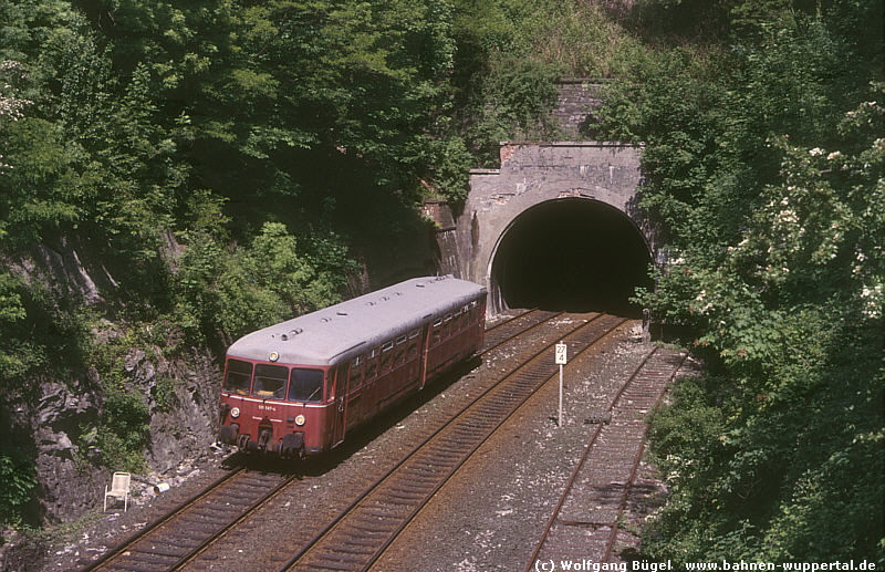 Dorrenberger Tunnel with railcar