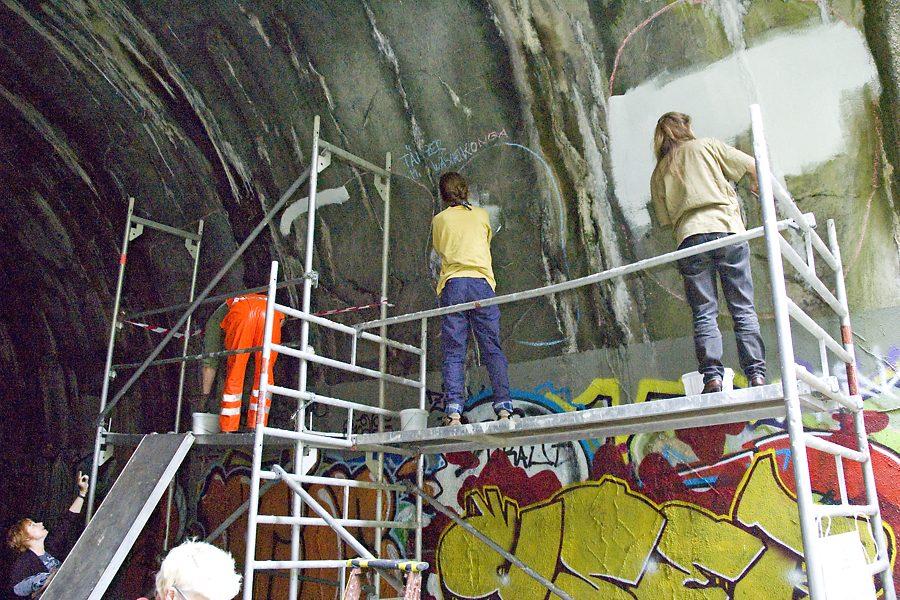 Tanztunnel: Erste Vorarbeiten