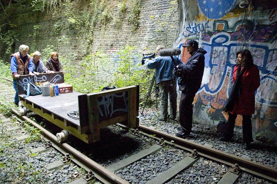 Tanztunnel: WDR-Lokalzeit is filming